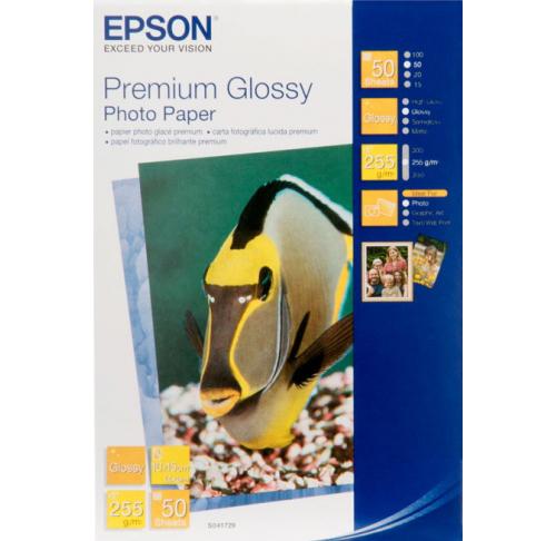 Фотобумага Epson Premium Glossy Photo Paper 10x15 (50 листов) (255 г/м2) фотобумага xl glossy self аdhesive photo paper самоклеящаяся с роллом 50 мм 85 г м2 0 610x20 м