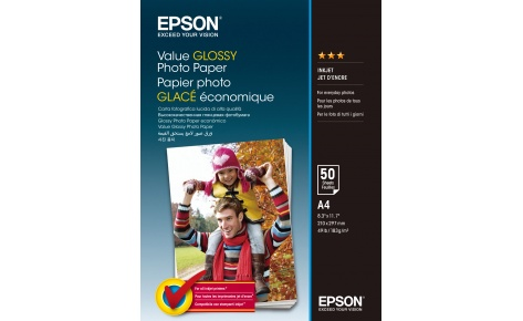 Фотобумага Epson Value Glossy Photo Paper A4 (50 листов) (183 г/м2) in stock with light 15019b 4122pcs lepin 15019 4002pcs assembly square city serie model building kits brick toy compatible 10255