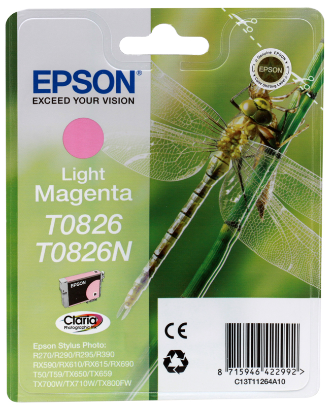 Картридж Epson Original T08264A  для R270/390/RX590 светло-пурпурный т(C13T11264A10) от OLDI
