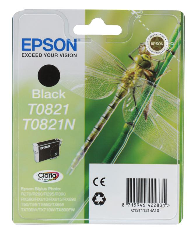 Картридж Epson Original T08214A для R270/390/RX590 черный (C13T11214A10)