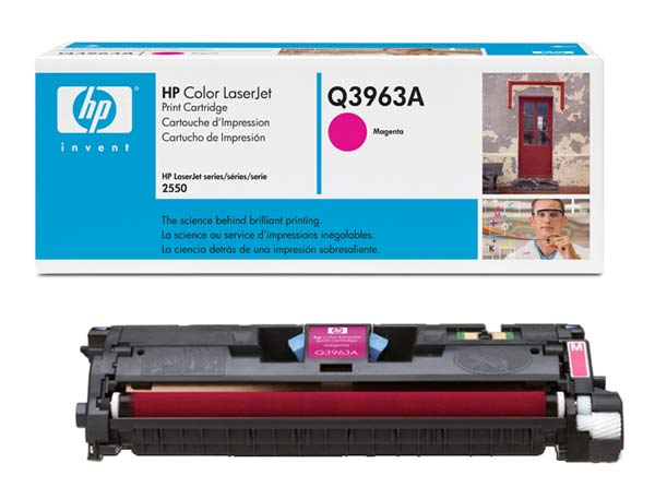 Картридж HP Q3963A (Color LaserJet 2550/2820/2840) Пурпурный color toner cartridge q3960a q3961a q3962a q3963a for hp color laserjet 1500 1550 2500 2550 2800 2820 2840 printer