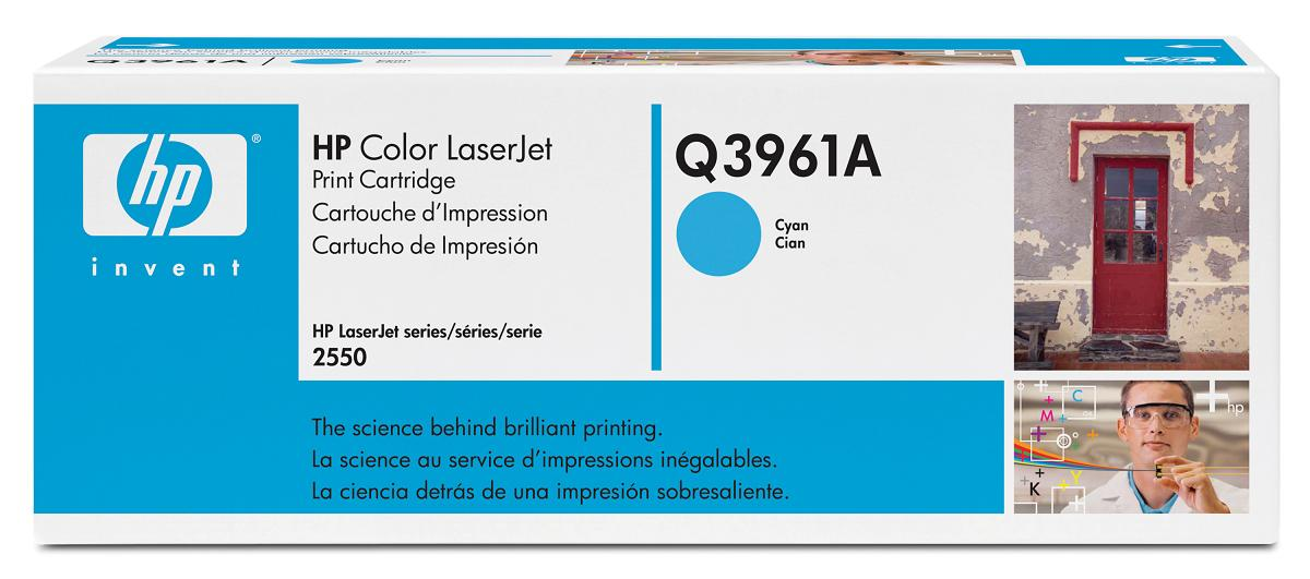 Картридж HP Q3961A (Color LaserJet 2550/2820/2840) Голубой new paper delivery tray assembly output paper tray rm1 6903 000 for hp laserjet hp 1102 1106 p1102 p1102w p1102s printer
