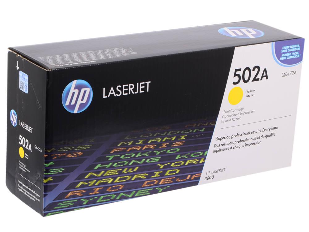 Картридж HP Q6472A (Color LaserJet 3600 ) Жёлтый hp 502a q6472a