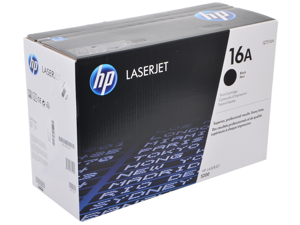Картридж HP Q7516A (LJ5200) картридж hp pigment ink cartridge 70 black z2100 3100 3200 c9449a