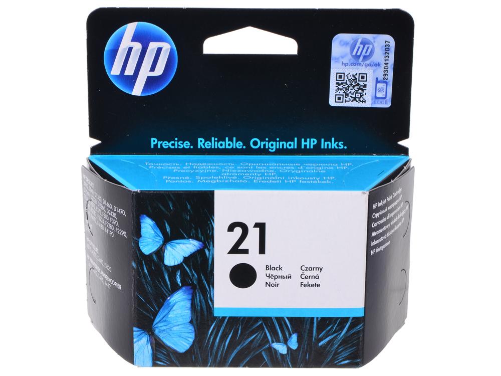 Картридж HP C9351AE (№21) черный DJ 3920/3940/PSC 1410 цена и фото