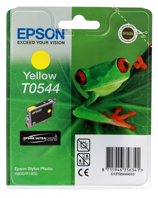 Картридж Epson Original T054440 (Photo R800) желтый картридж epson t009402 для epson st photo 900 1270 1290 color 2 pack