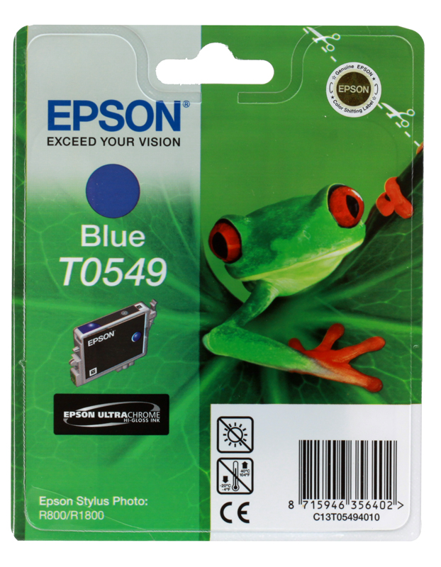 Картридж Epson Original T054940 (Photo R800) синий картридж epson t009402 для epson st photo 900 1270 1290 color 2 pack