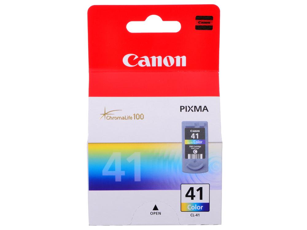 Картридж Canon CL-41 для принтеров PIXMA MP450/PM170/PM150/iP6220D/iP6210D/iP2200/iP1600. Цветной. 315 страниц картридж canon pg 40 черный pixma mp450 mp150 mp170 ip1600 ip2200 ip6210d 0615b025