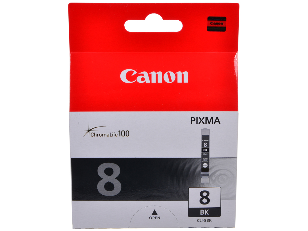 Чернильница Canon CLI-8BK для PIXMA MP800/MP500/iP6600D/iP5200/iP5200R/iP4200. Чёрный. 5220 страниц. картридж canon cli 8m для pixma ip6600d ip4200 ip5200 пурпурный