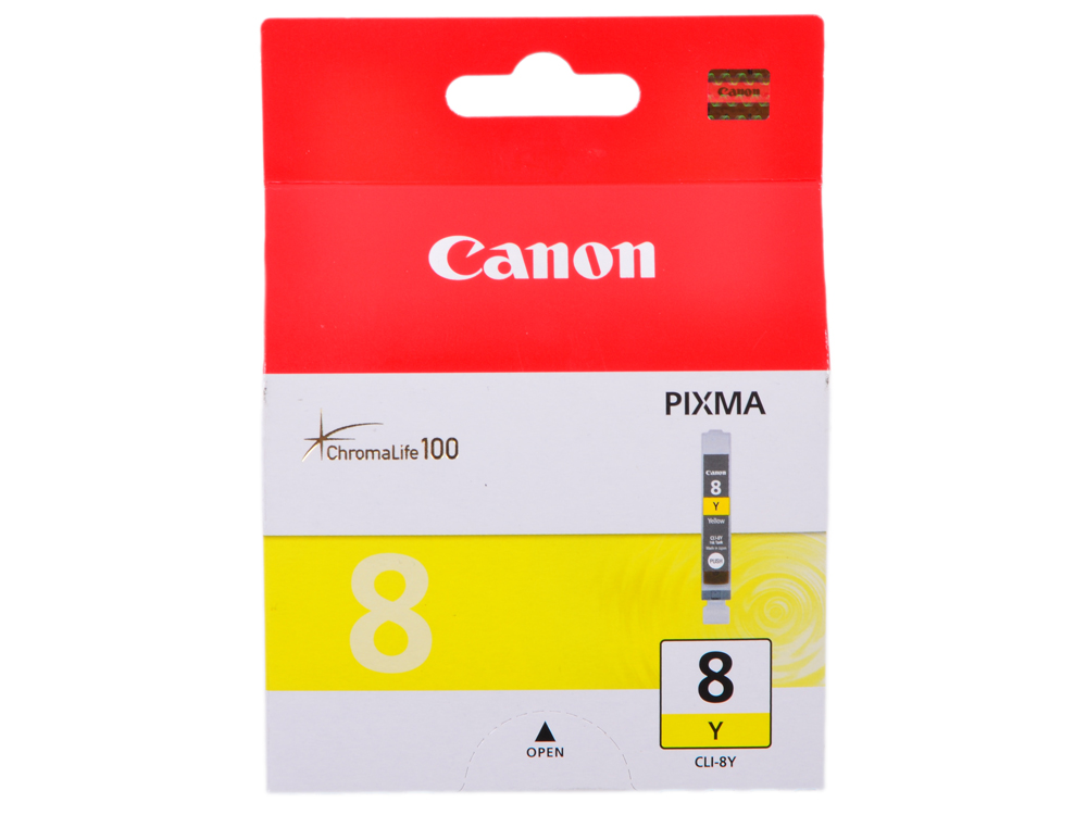 Чернильница Canon CLI-8Y для PIXMA MP800/MP500/iP6600D/iP5200/iP5200R/iP4200/IX5000. Жёлтый. 600 страниц. falmec symbol parete 120 ix 800