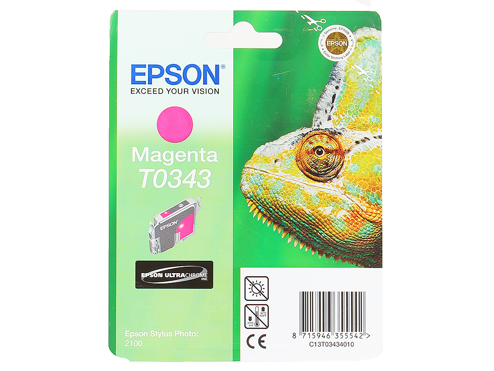 Картридж Epson Original Т034340 (magenta) /для Stylus Photo 2100/ картридж epson t009402 для epson st photo 900 1270 1290 color 2 pack