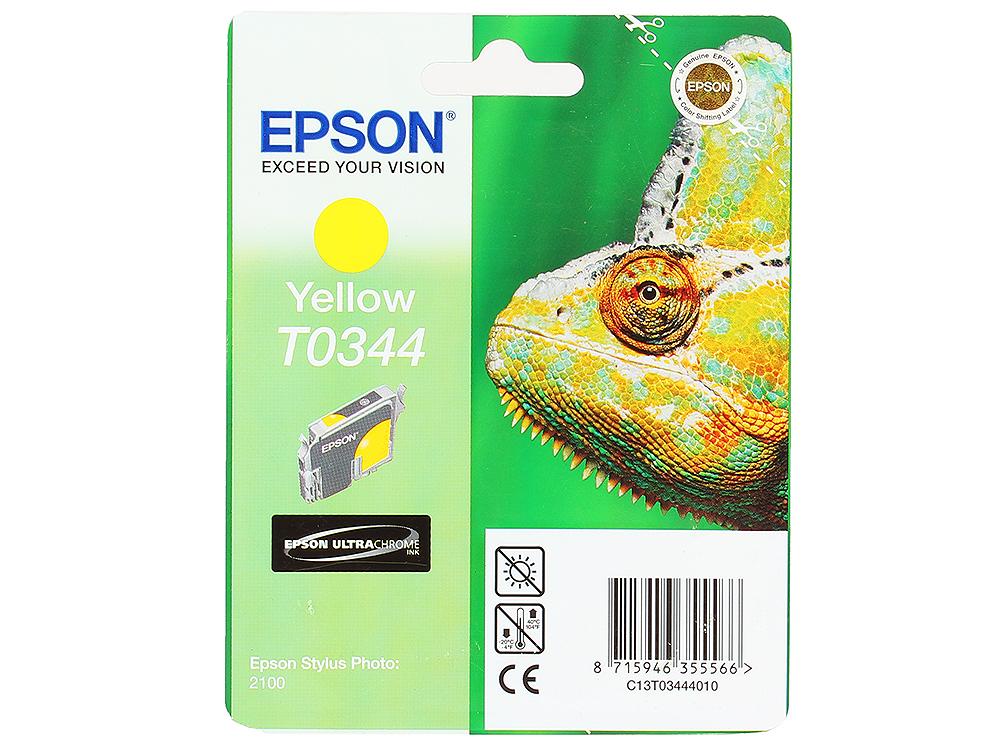 Картридж Epson Original Т034440 (yellow) /для Stylus Photo 2100/ картридж epson t009402 для epson st photo 900 1270 1290 color 2 pack