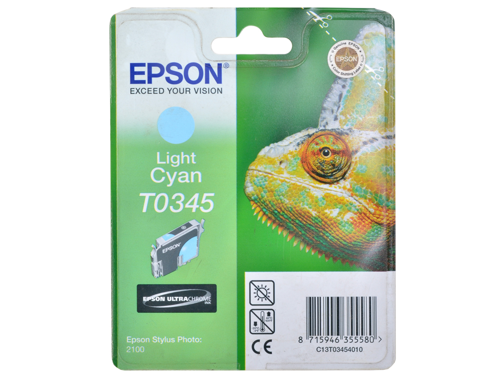 Картридж Epson Original Т034540 (светло-синий)/для Stylus Photo 2100/ картридж epson t009402 для epson st photo 900 1270 1290 color 2 pack