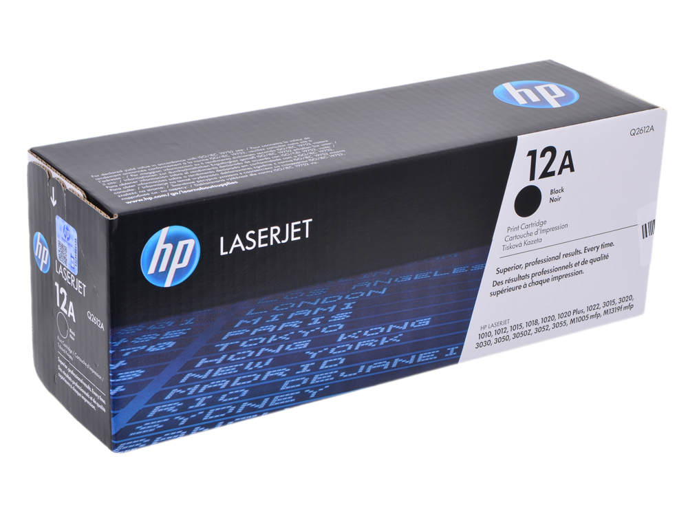 Картридж HP Q2612A LJ1010/1012/1015 картридж hp pigment ink cartridge 70 black z2100 3100 3200 c9449a