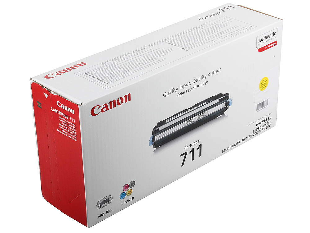 Картридж Canon 711Y для принтеров Canon LBP5300. Жёлтый. 6000 страниц.