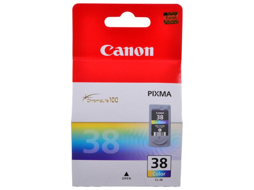 Картридж Canon CL-38 для Pixma iP 1800/2500/1900/2600, MX 300/310, MP 190/210/220/140. Трехцветный. 207 страниц. canon cl 446 оригинальный трехцветный