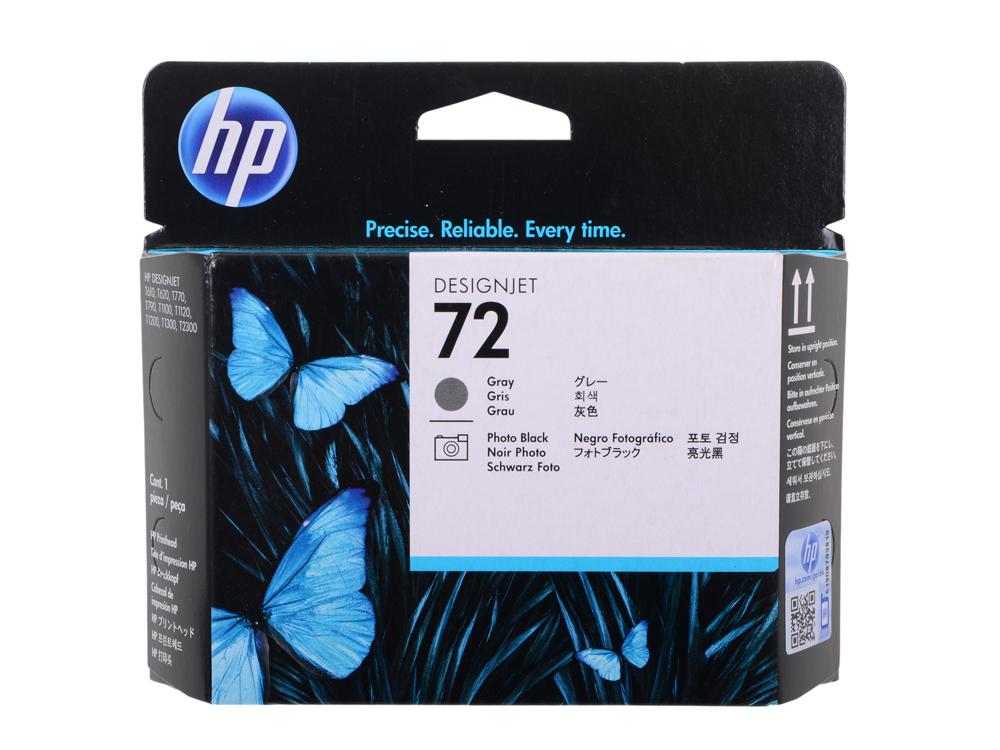 Картридж HP C9380A (№72 Печатающая головка черная и серая) печатающая головка hp 72 фото черный серый [c9380a]