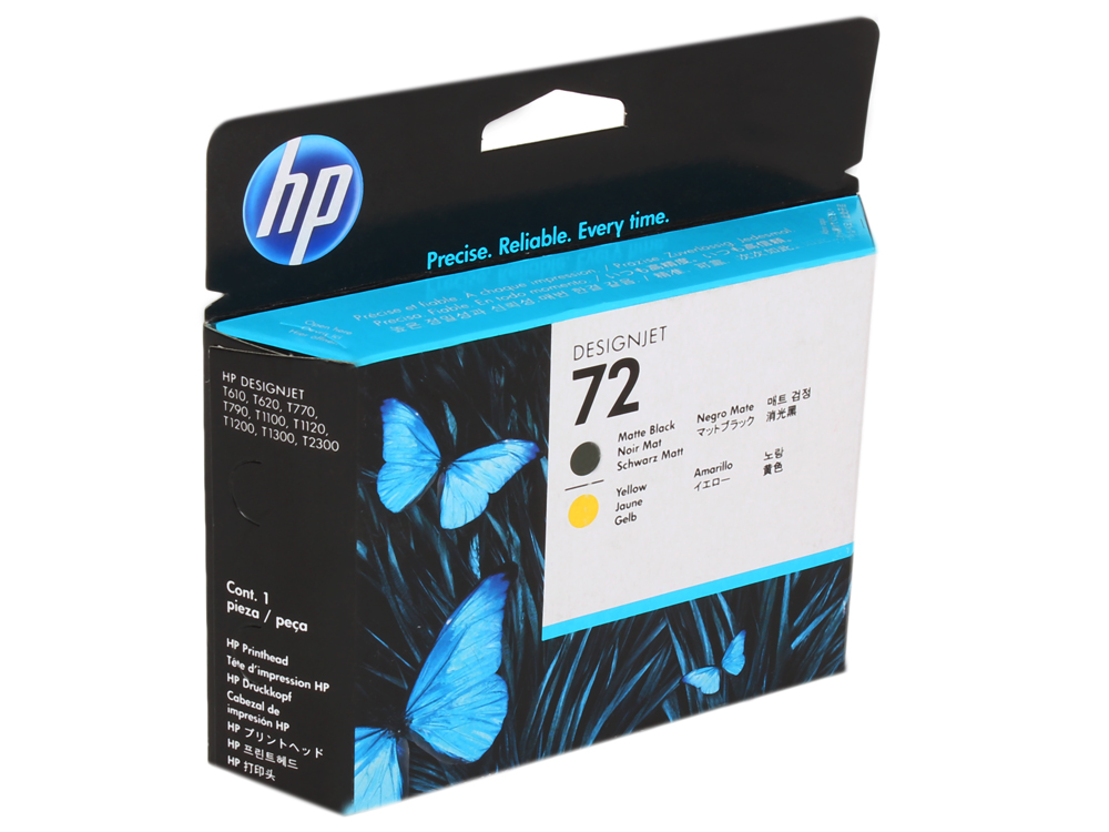 Картридж HP C9384A (№72 Печатающая головка матовая, черная и желтая) billtera direct selling short men wallets new the wallet male money genuine leather no zipper slim wallet dollar price purses
