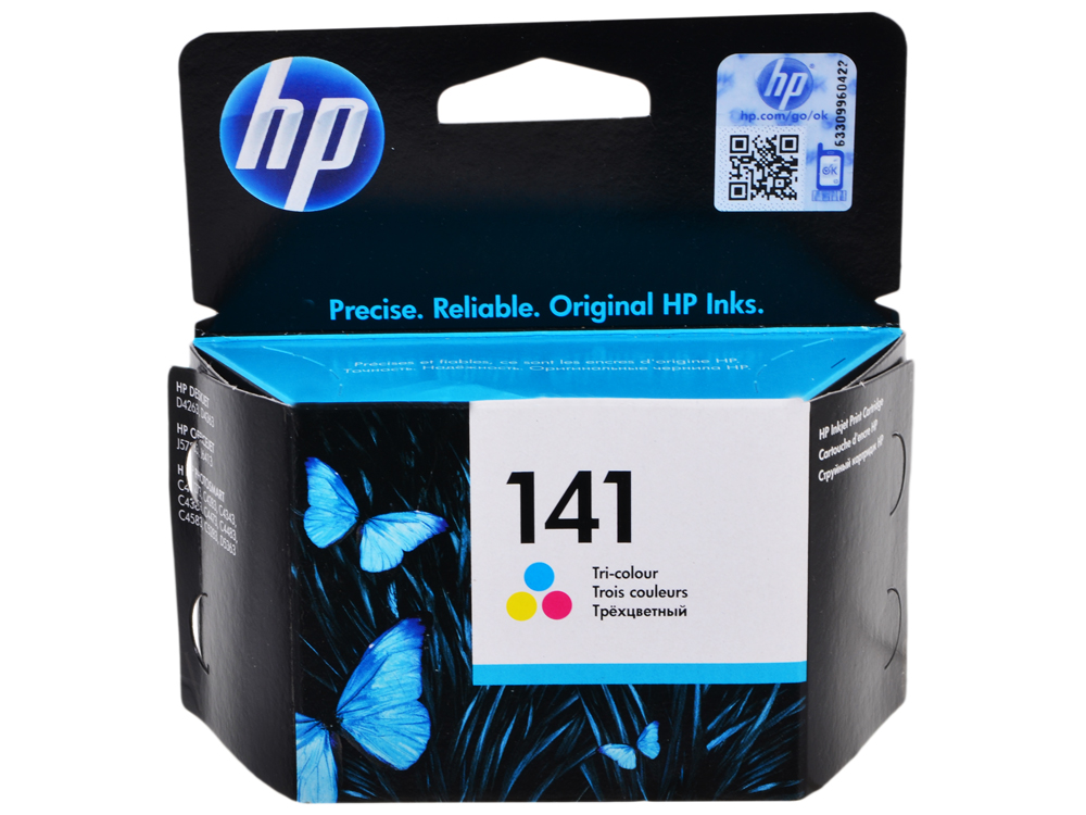 Картридж HP CB337HE (№141) цветной OJ5783 картридж hp pigment ink cartridge 70 black z2100 3100 3200 c9449a