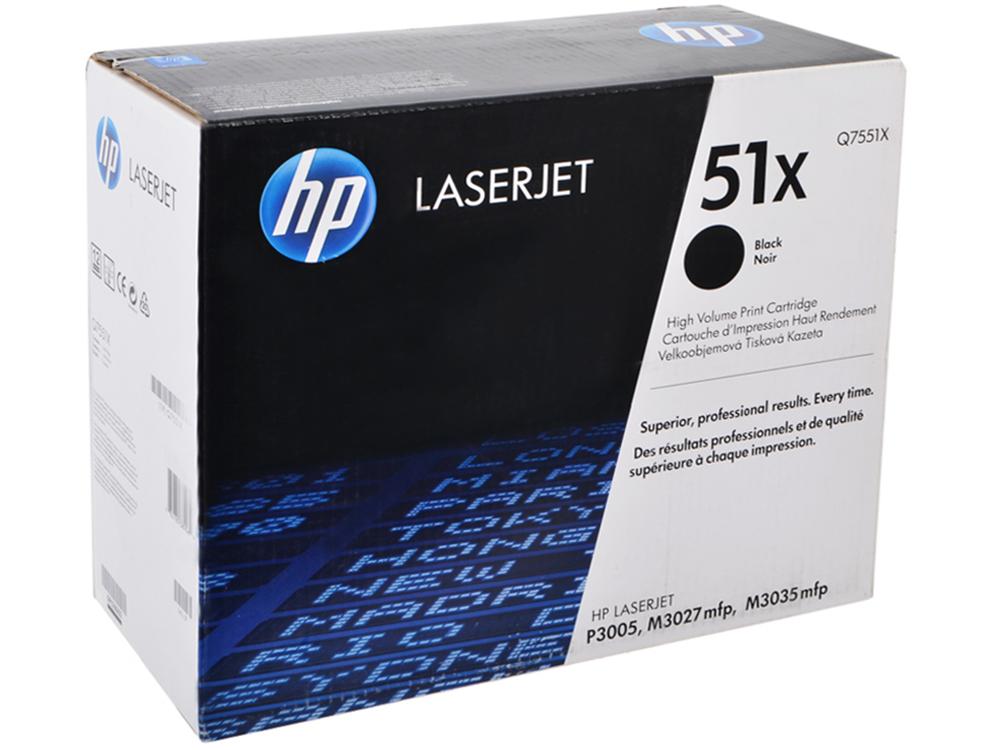 Картридж HP Q7551X ( LJ P3005/M3035mfp/M3027mfp, 13000 страниц) тонер картридж hp q7551a for lj p3005 m3035mfp m3027mfp 6500 pages