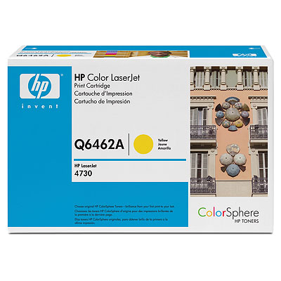 Картридж HP Q6462A для Color LaserJet 4730 MFP. Желтый. 12000 страниц.