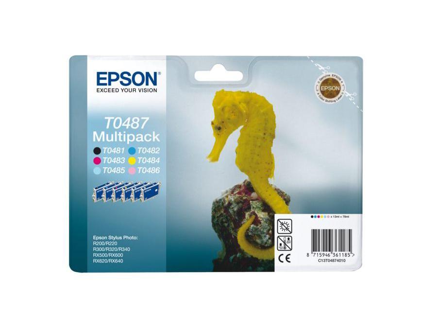 Картридж Epson Original T048740 (комплект) /для ST Ph R200/300/RX500/600 original cc03main mainboard main board for epson l455 l550 l551 l555 l558 wf 2520 wf 2530 printer formatter