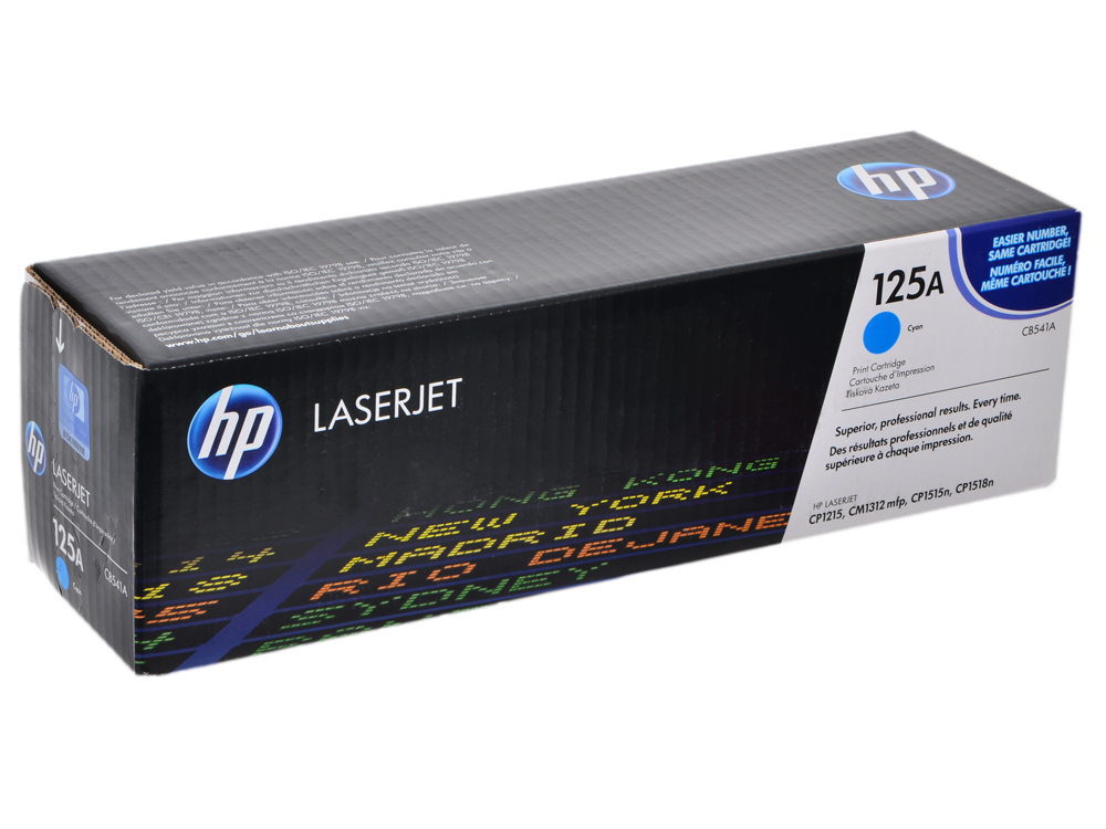Картридж HP CB541A голубой для CP1215/1515 картридж hp cb541a для clj cm1312 cp1215 голубой 125а