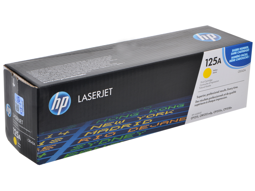Картридж HP CB542A желтый для CP1215/1515 картридж nv print cb542a crg716 yellow для hp lj color cp1215 1515 1518