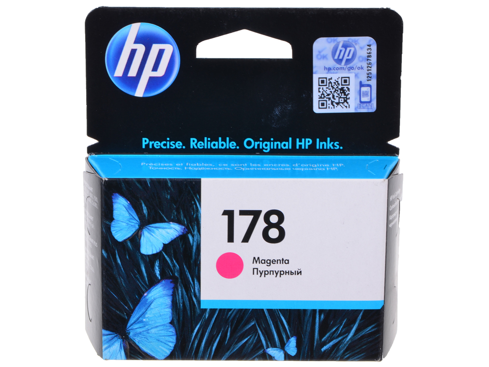 Картридж HP CB319HE (№ 178) пурпурный, 4 мл, PS C5383/C6383/D5463 hp178 4 color remanufactured printhead for hp photosmartplus b209a b210a b109a b109n tb110a printer head for hp 178
