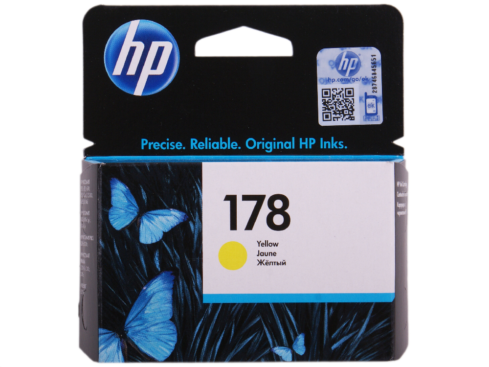 Картридж HP CB320HE (№ 178) желтый, 4 мл, PS C5383/C6383/D5463 hp178 4 color remanufactured printhead for hp photosmartplus b209a b210a b109a b109n tb110a printer head for hp 178