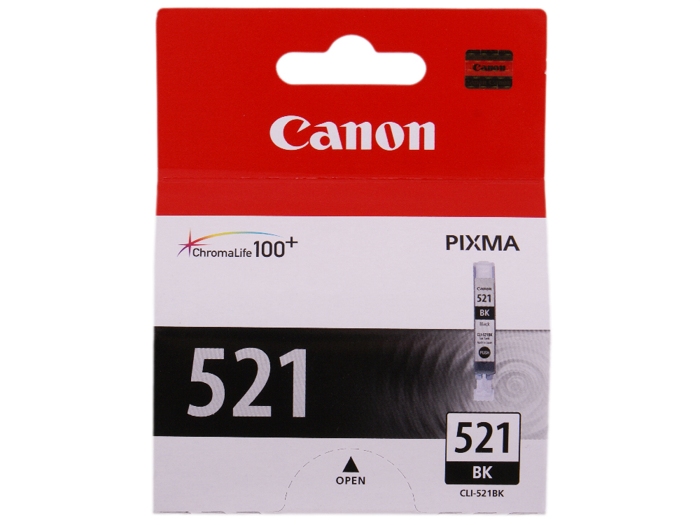 Картридж Canon CLI-521BK картридж colouring cg cli 521bk black для canon ip3600 ip4600 mp540 mp620 mp630 mp980