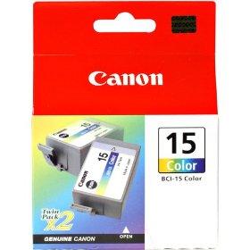 Картридж Canon BCI-15Color для BJ-I70. Двойная упаковка. Цветная. 100 страниц. картридж струйный lomond canon bci 3ey для canon bc 31 bc 33 s600 yellow