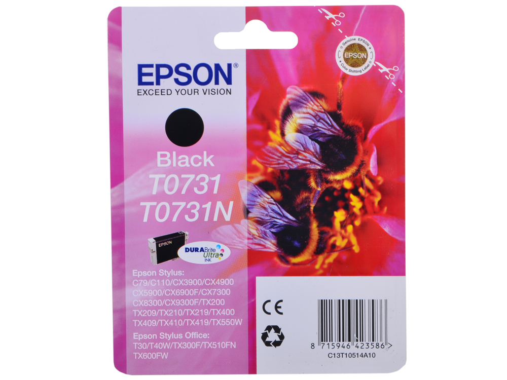 Картридж Epson Original T07314A (T10514A10 ) черный для С79/СХ3900/4900/5900/7300 original cc03main mainboard main board for epson l455 l550 l551 l555 l558 wf 2520 wf 2530 printer formatter