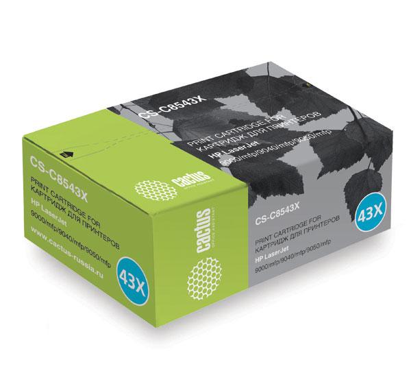 Картридж Cactus CS-C8543X для принтера HP LaserJet 9000/mfp/9040/mfp/9050/mfp., черный, 30000 стр.