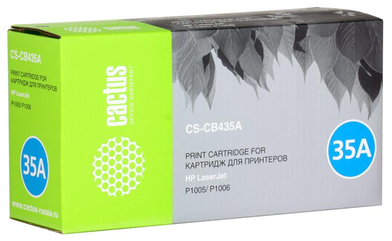 Картридж Cactus CS-CB435A для принтеров HP Laser Jet P1005/ P1006. 1500 стр