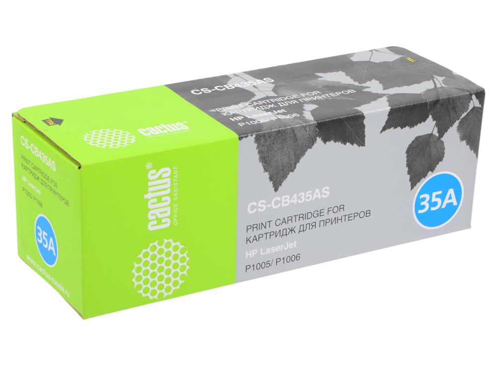 Картридж Cactus CS-CB435A для принтеров HP Laser Jet P1005/ P1006. 1500 стр картридж cactus 106r02181 cs ph3010