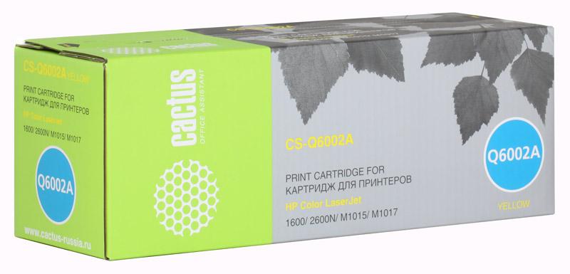 Картридж Cactus CS-Q6002A для принтеров HP Color LaserJet 1600/2600N/M1015/M1017, желтый, 2500 стр.