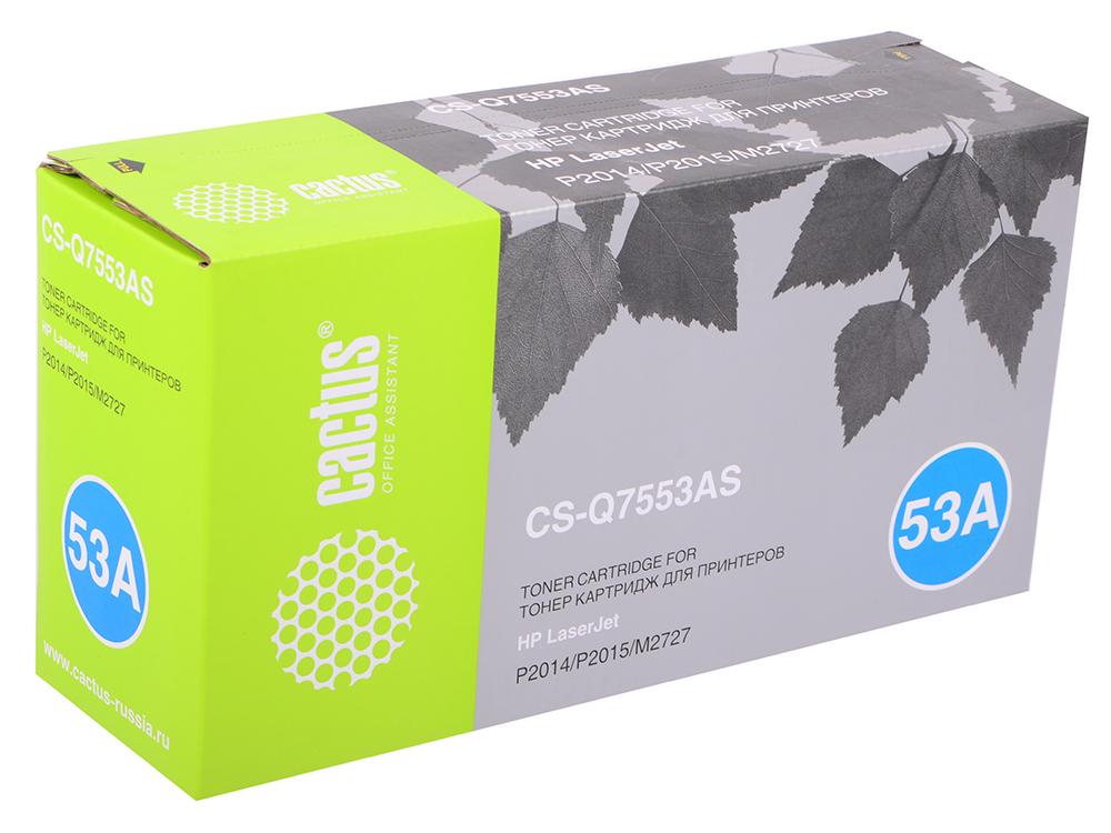 Картридж Cactus CS-Q7553A для принтеров HP Laser Jet P2014/ P2015/ M2727 mfp. 3000 стр.