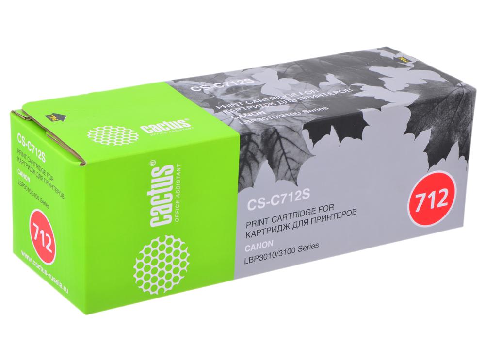 Картридж CACTUS CS-C712/CS-C712S для принтеров CANON LBP-3010/ 3100 1500 стр. картридж cactus cs c712s черный