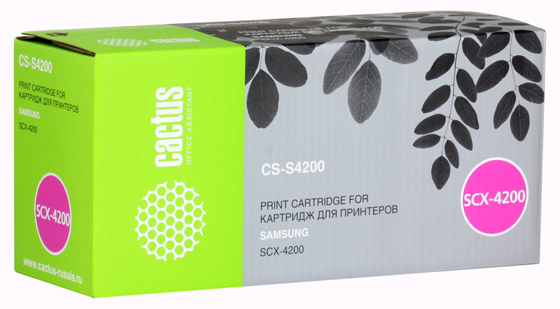 Картридж Cactus CS-S4200 для принтеров SAMSUNG SCX-4200. 3000 стр. scx 4200 toner cartridge for samsung scx 4200 printer