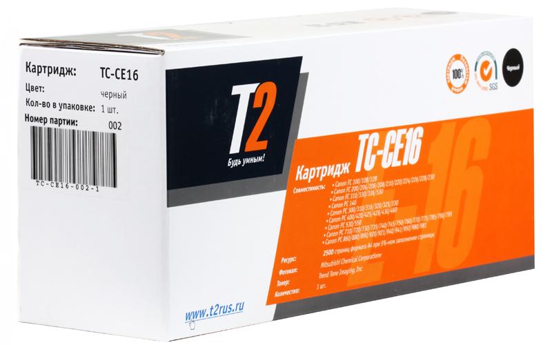 Картридж T2 для Canon TC-CE16 FC 108/128/206/208/210/220/228/230/310/330/PC330/760/860 (2500 стр.) (аналог Е-16)