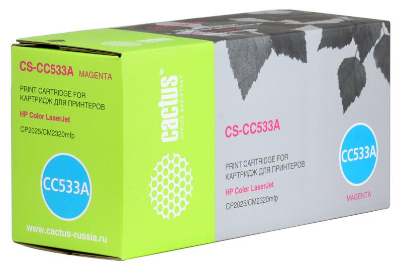 Картридж Cactus CS-CC533A для принтеров HP Color LaserJet CP2025/CM2320mfp, пурпурный, 2800 стр.