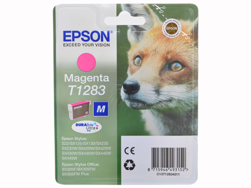 Картридж Epson Original T1283 (magenta) для S22/SX125 (C13T12834011) original cc03main mainboard main board for epson l455 l550 l551 l555 l558 wf 2520 wf 2530 printer formatter