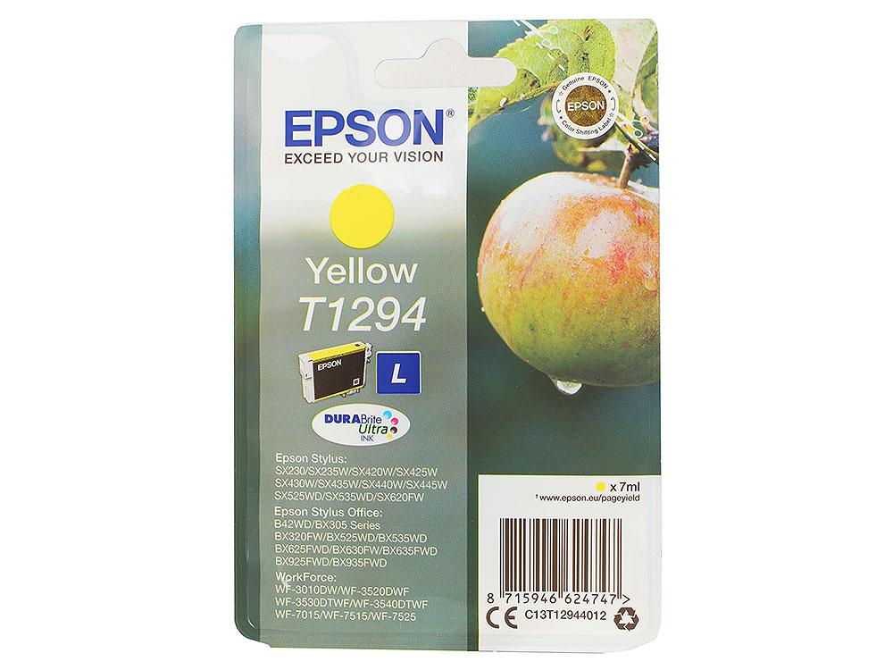 все цены на Картридж Epson Original T1294 (C13T12944011) Yellow для SX420W/ BX305F онлайн