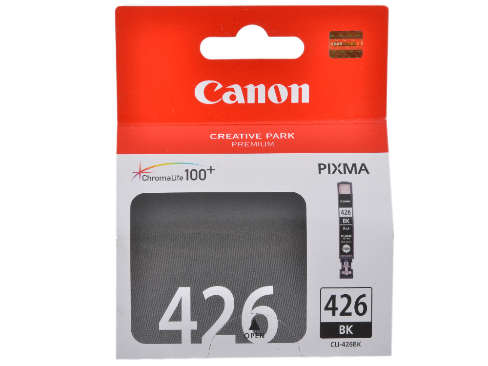Картридж Canon CLI-426BK для iP4840, MG5140, MG5240, MG6140, MG8140. (4556B001). Чёрный. 1505 страниц. картридж colouring cg cli 426m magenta для canon ip4840 mg5140 mg5240 mg6140 mg8140