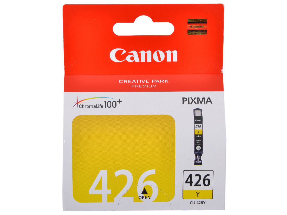 Картридж Canon CLI-426Y для iP4840, MG5140, MG5240, MG6140, MG8140. Жёлтый. 446 страниц. картридж colouring cg cli 426m magenta для canon ip4840 mg5140 mg5240 mg6140 mg8140