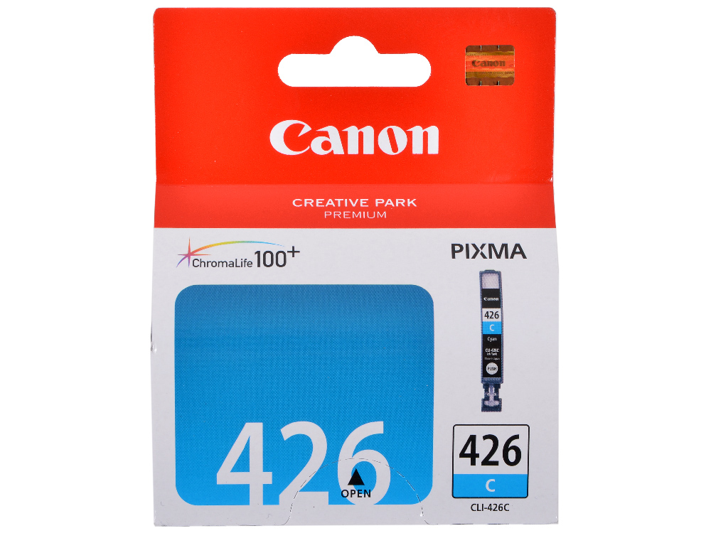 Картридж Canon CLI-426C для iP4840, MG5140, MG5240, MG6140, MG8140. Голубой. 446 страниц. картридж colouring cg cli 426m magenta для canon ip4840 mg5140 mg5240 mg6140 mg8140