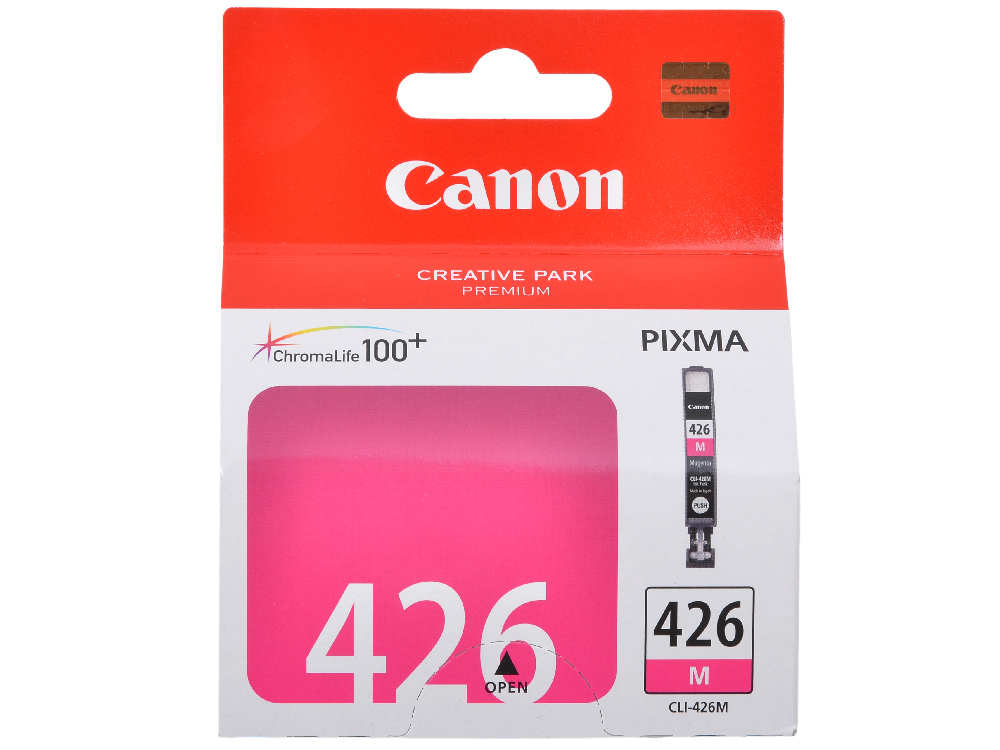 Картридж Canon CLI-426M для iP4840, MG5140, MG5240, MG6140, MG8140. Пурпурный. 446 страниц. картридж colouring cg cli 426m magenta для canon ip4840 mg5140 mg5240 mg6140 mg8140