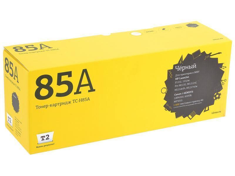 Картридж T2 для HP TC-H85A LaserJet P1102/1102w/Pro M1132/M1212nf/M1214nfh/Canon i-SENSYS LBP6000 Cartrige 725 (1600 стр.) с чипом картридж t2 tc h310 black для hp laserjet pro cp1025 1025nw pro 100 mfp m175a pro 100 m175nw i sensys lbp7010c lbp7018c с чипом