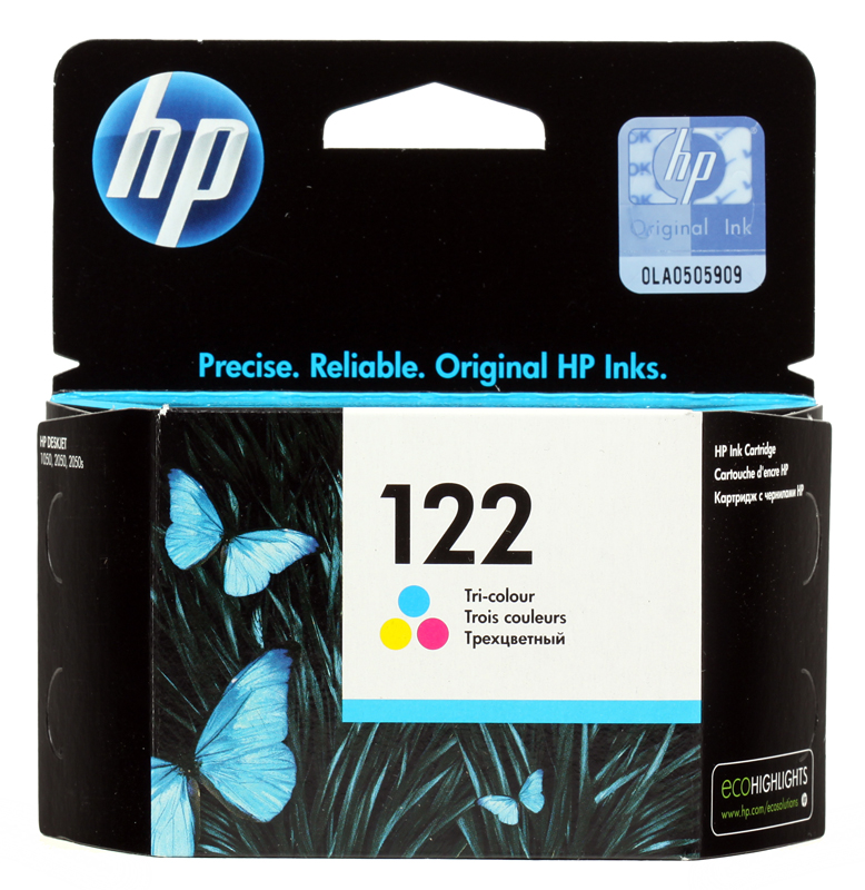 Картридж HP CH562HE (№122) цветной DJ 2050, 100стр for hp 122 black ink cartridge for hp 122 xl deskjet 1000 1050 2000 2050 3000 3050a 3052a printer